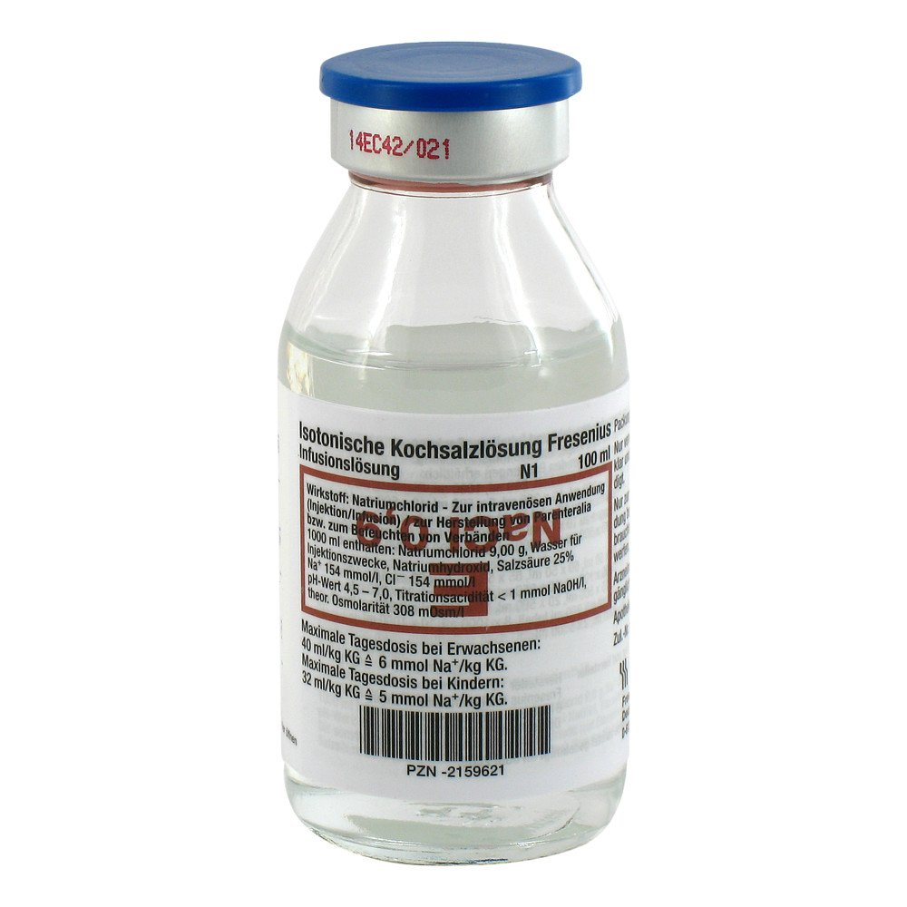 Isotonische Kochsalzlösung 0,9 %, 100 ml, NaCl