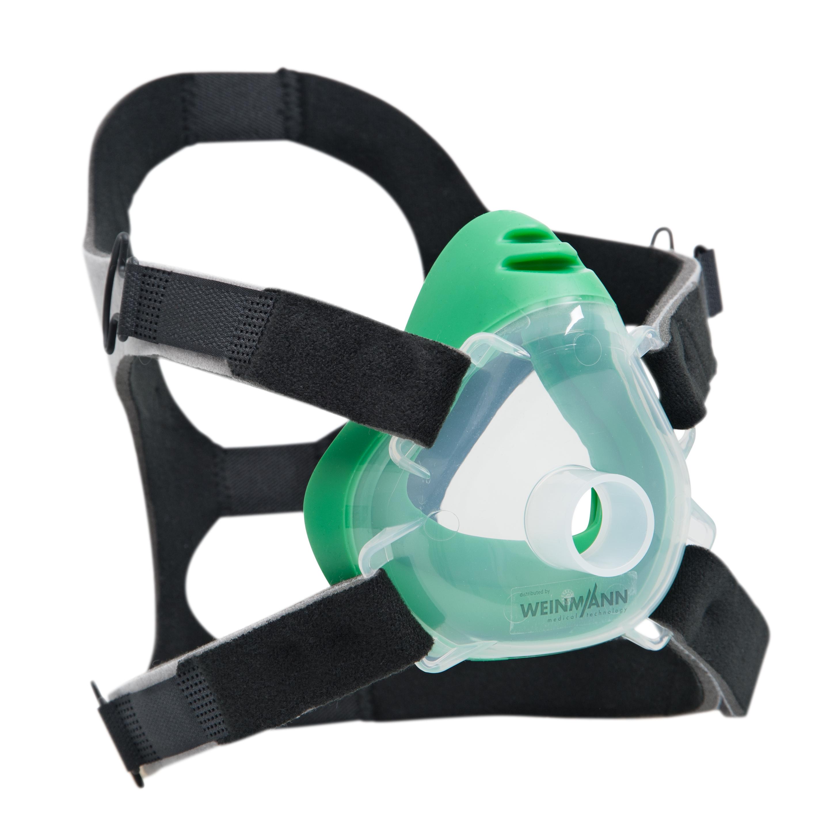 Premium CPAP-/NIV-Einwegmaske inkl. Kopfbänderung  Größe M (Erwachsener), 10er-Set