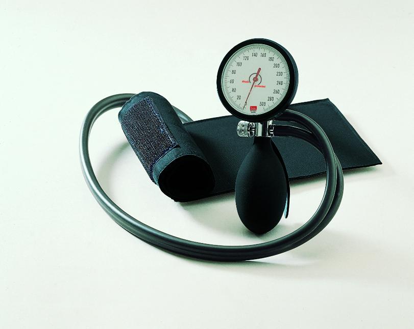 Boso clinicus I Blutdruckmessgerät schwarz Einschlauch m. Klettenmanschette
