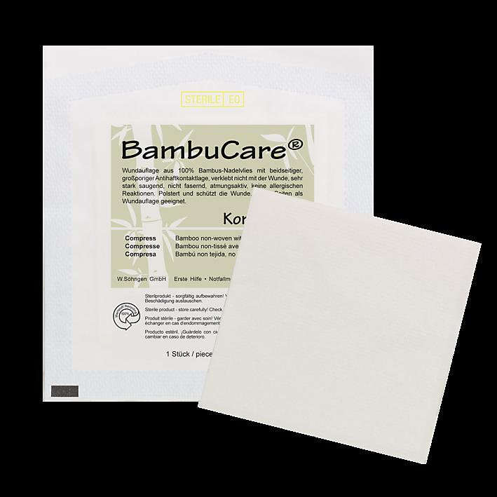 BambuCare® Kompresse einzeln 10x10 cm