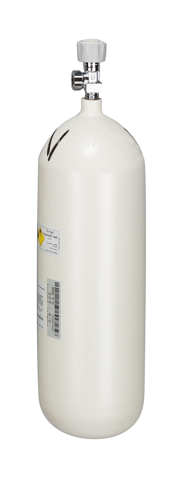Sauerstoff-Flasche 5,0 Liter, gefüllt, G 3/4