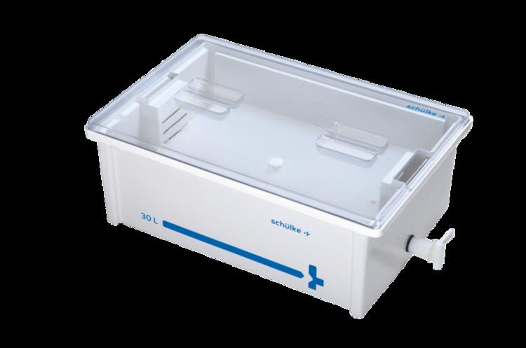 Desinfektionswanne 30 L – Komplett-Set / Deckel transparent | Instrumentenwanne