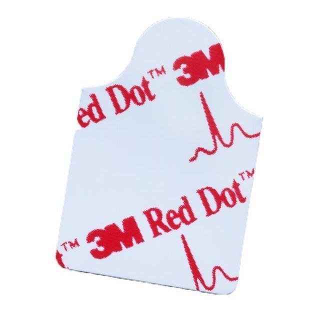 Red Dot™ EKG-Elektroden 2,2 x 3,2 cm für Ruhe- und Diagnostik-EKG - 100 Stück