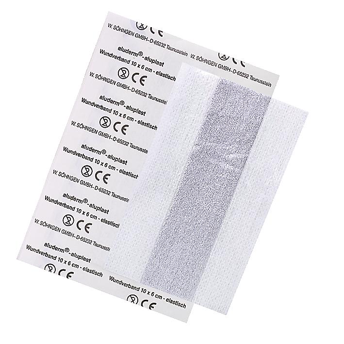 aluderm®-aluplast elastisch 10 x 6 cm einzeln eingesiegelt - 5 Stück