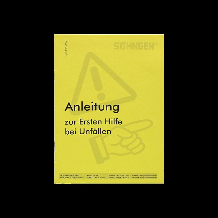 Anleitung Erste-Hilfe Heftform gelb, entspricht DGUV 204-006