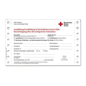 Teilnahmebescheinigung Ausbildung/Fortbildung Erste Hilfe, 1 VE à 99 Stück