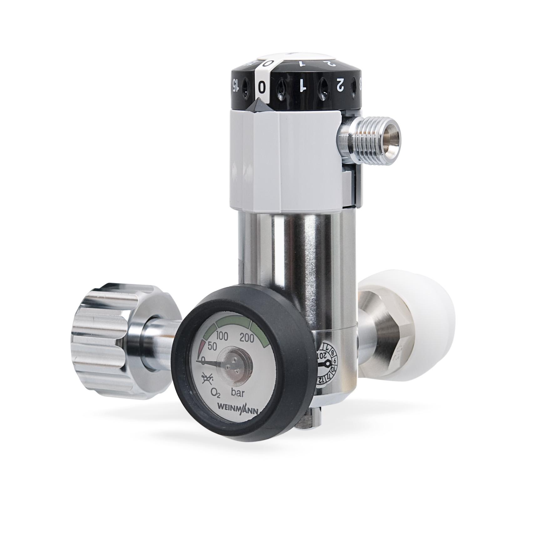 OXYWAY Fast II, G 3/4' mit flachem Manometer  Druckminderer für Sauerstoff