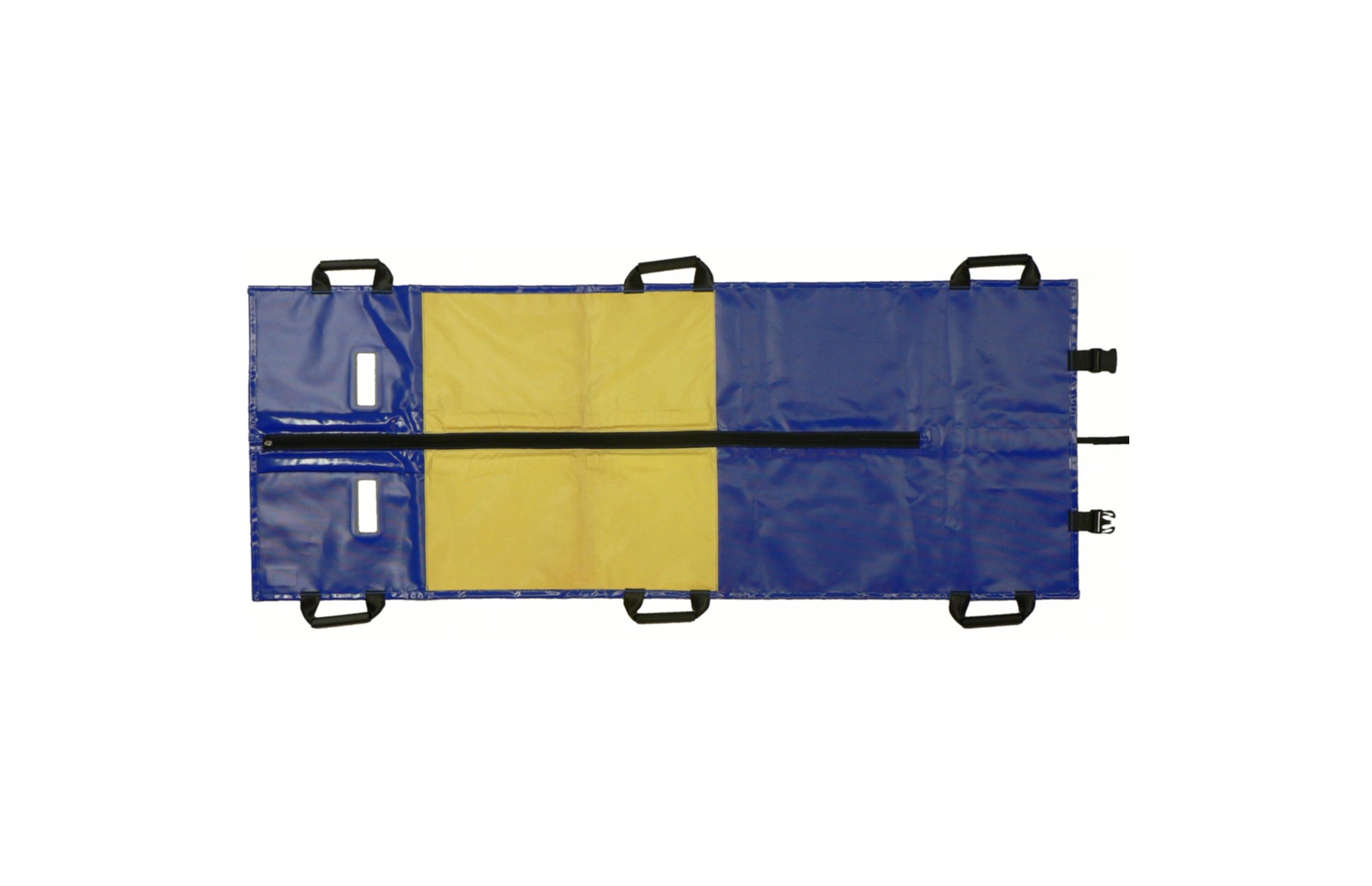 Rettungstuch bis 150 kg, mit 6 Griffe, teilbar, Gurtdurchlass, Rollboardfunktion