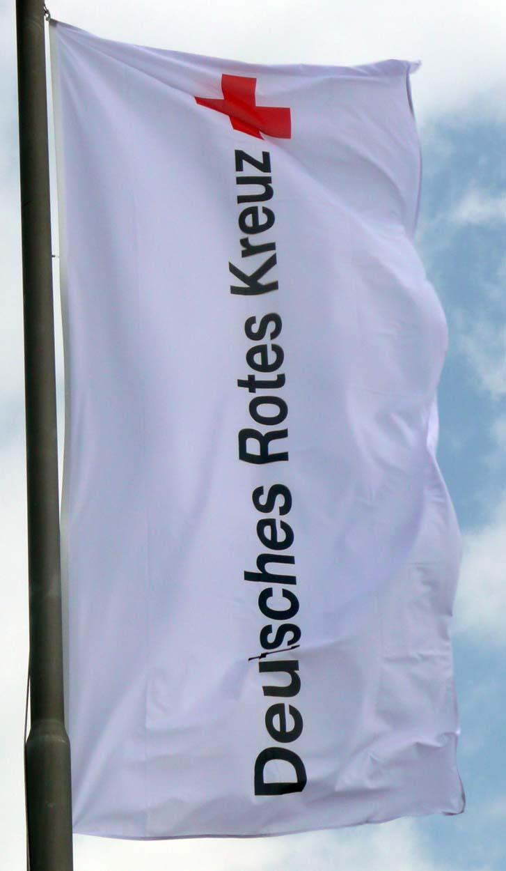DRK-Flagge/Fahne mit DRK - Langlogo