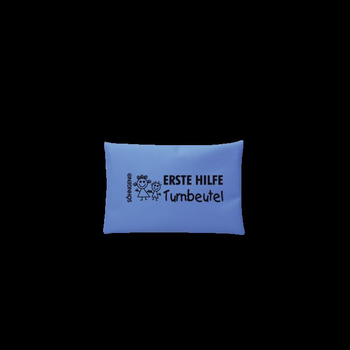 Erste Hilfe Turnbeutel blau