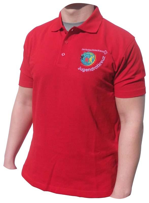 JRK Poloshirt rot, gestickt