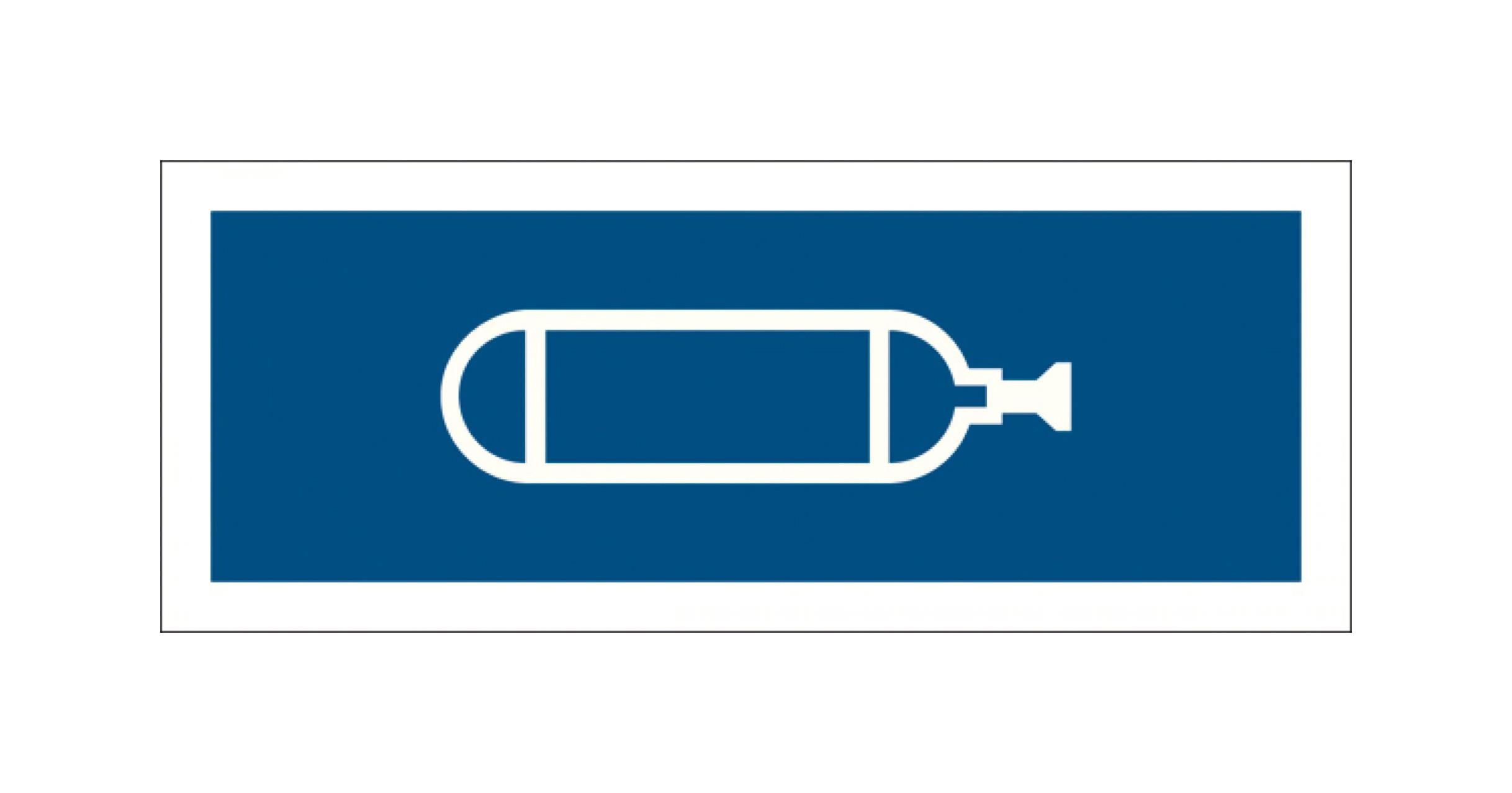 Normsymbol: Sauerstoff 109 x 37 mm