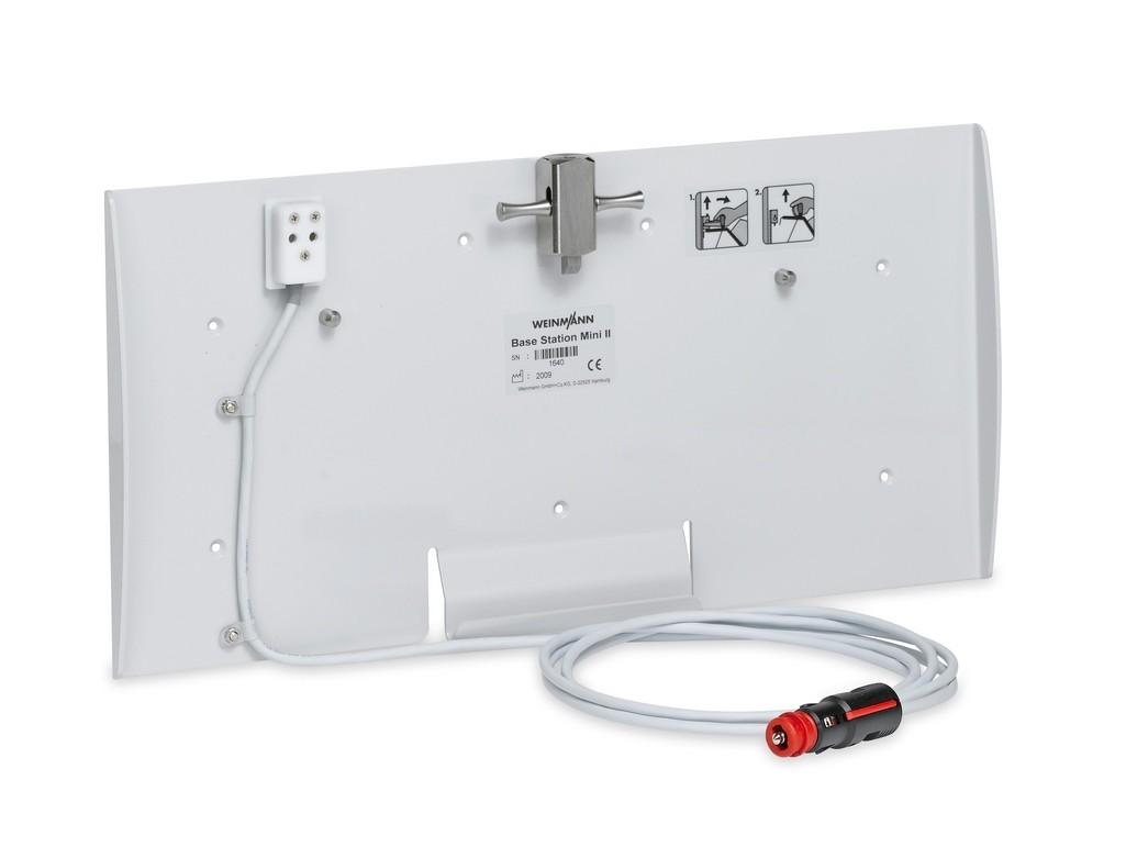 BASE-STATION mini II Wandhalterung  mit 12 V-Ladeschnittstelle (Kfz-Kombistecker)  für die Tragesysteme (ohne Lademöglichkeit).