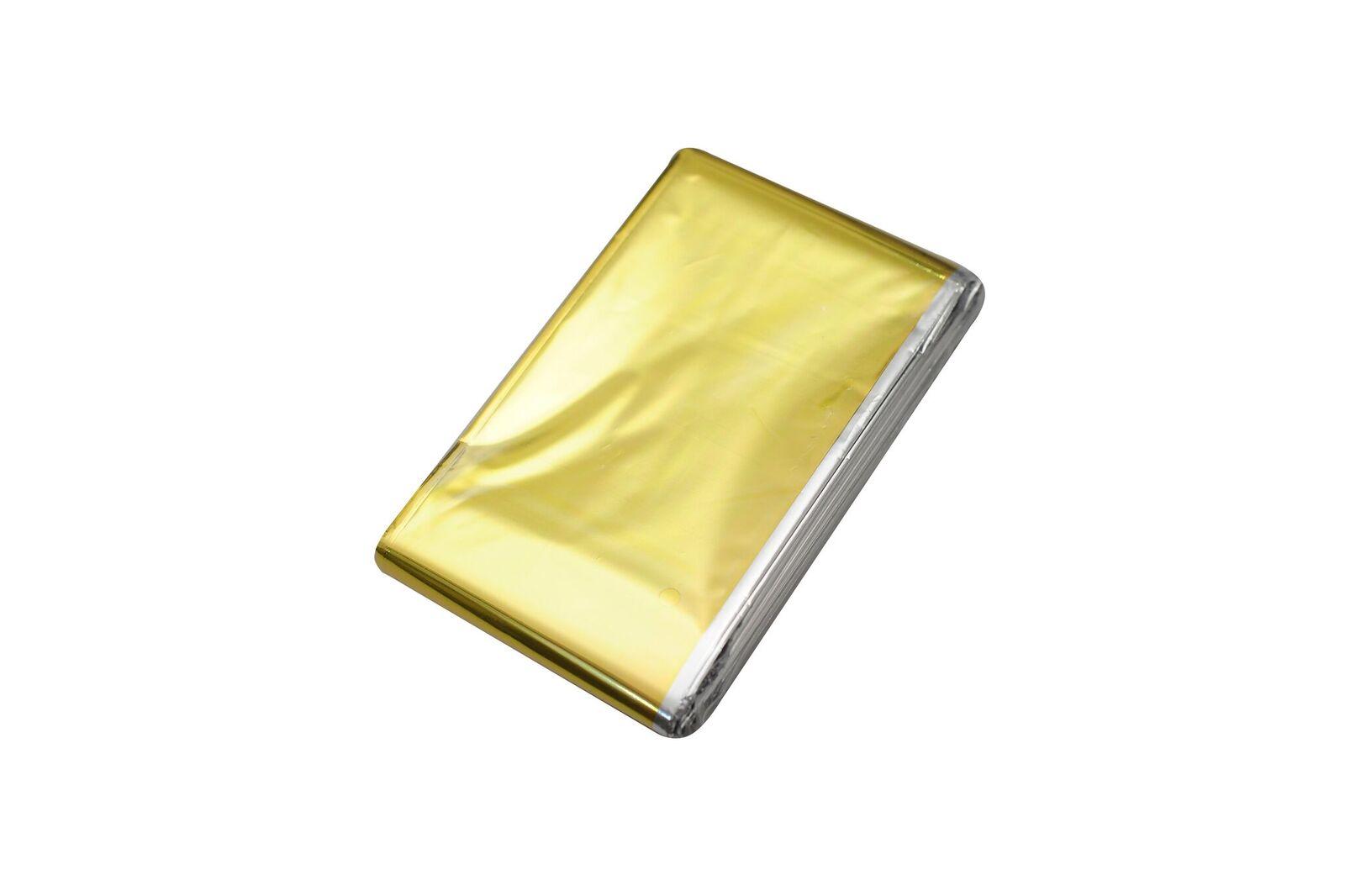 Rettungsdecke (1A) Gold / Silber 210 x 160 cm