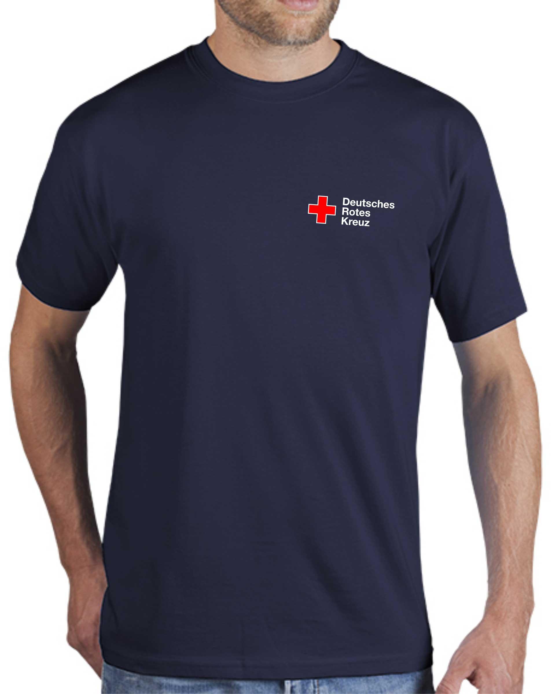 T-Shirt blau mit DRK Kompaktlogo