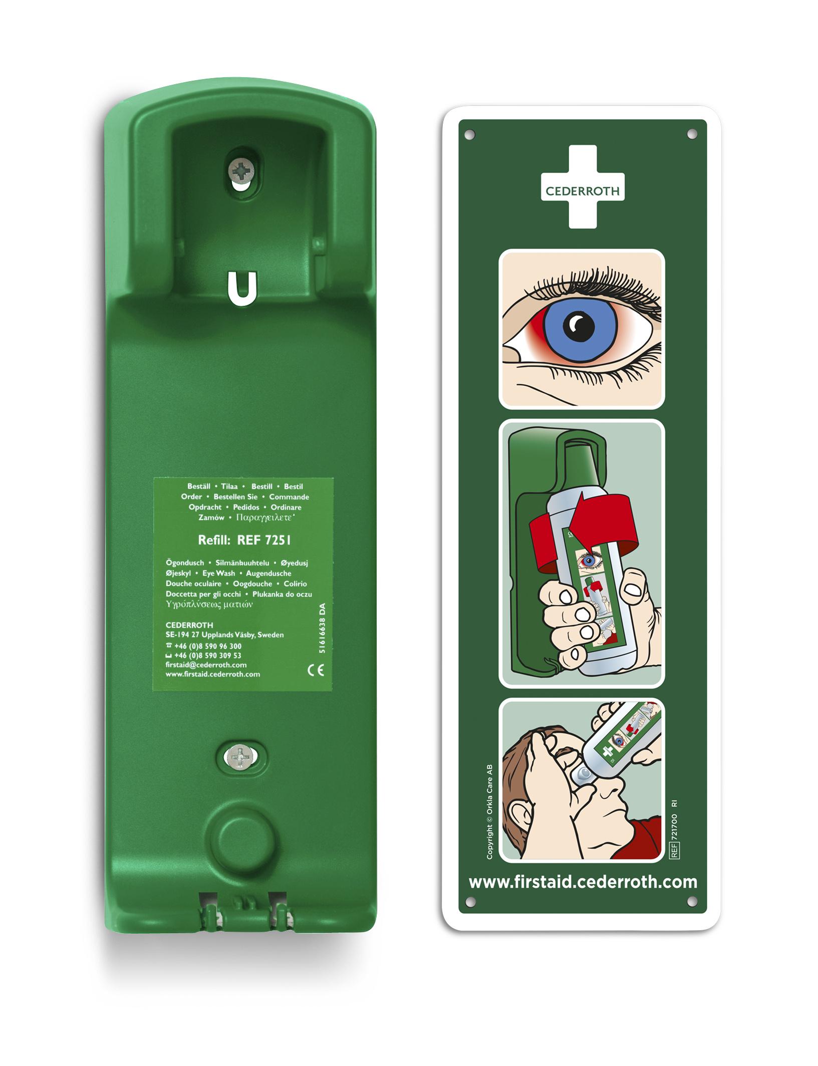 Cederroth Wandhalterung für Augendusche