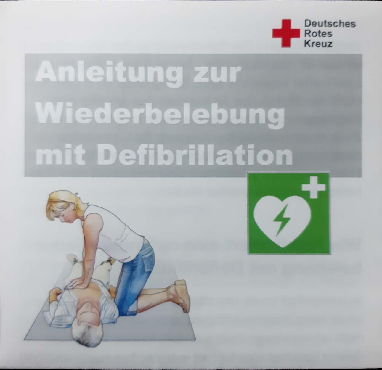Infoblatt Anleitung zur Wiederbelebung mit Defibrillatoren
