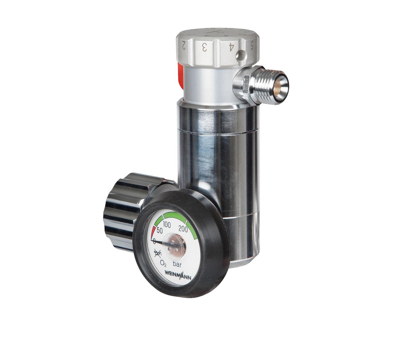Druckminderer für Sauerstoff,  - OXYWAY Fast I,  G 3/4' mit flachem Manometer,