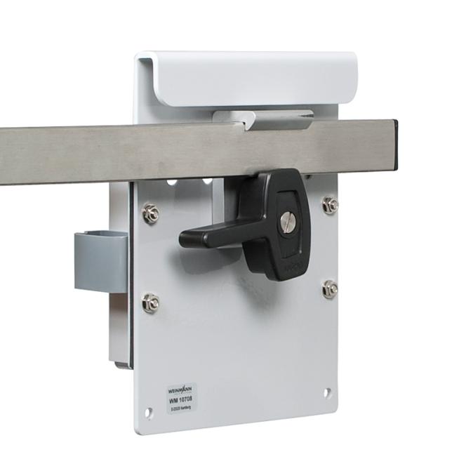 Wandhalterung für Netz- und Ladegerät zur direkten Wandmontage (geeignete Schrauben  für die Wandmontage vom Kunden beizustellen)