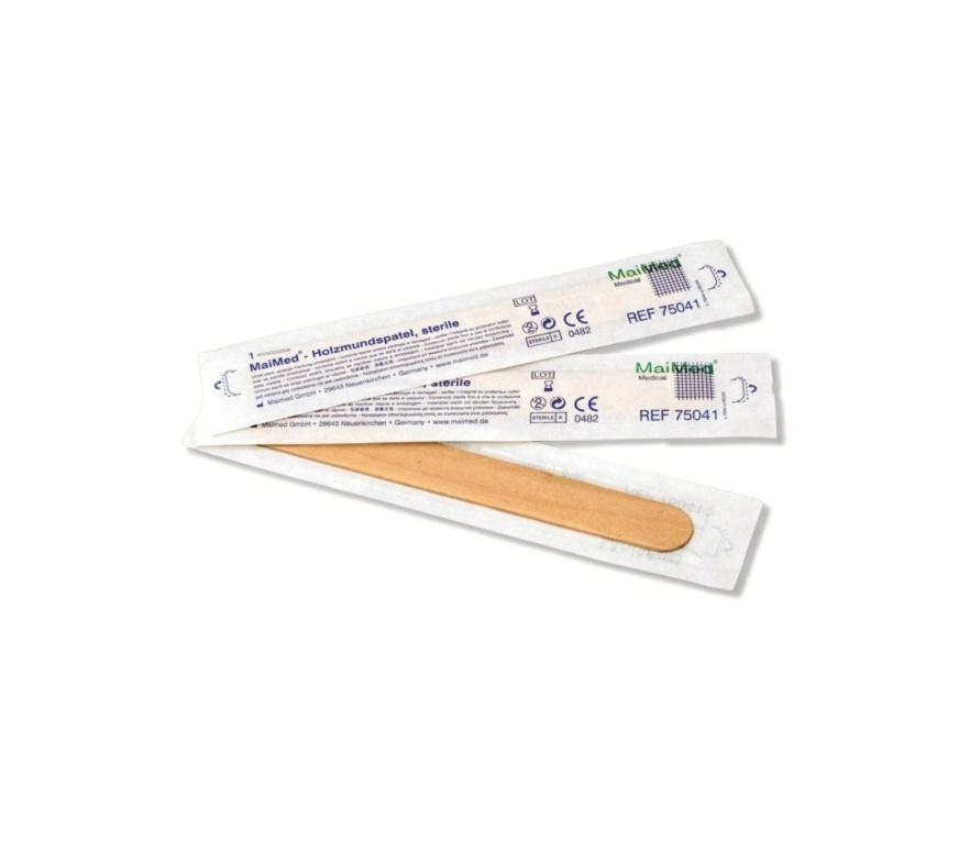 Holzmundspatel, einzeln verpackt, Packung à 100 Stück