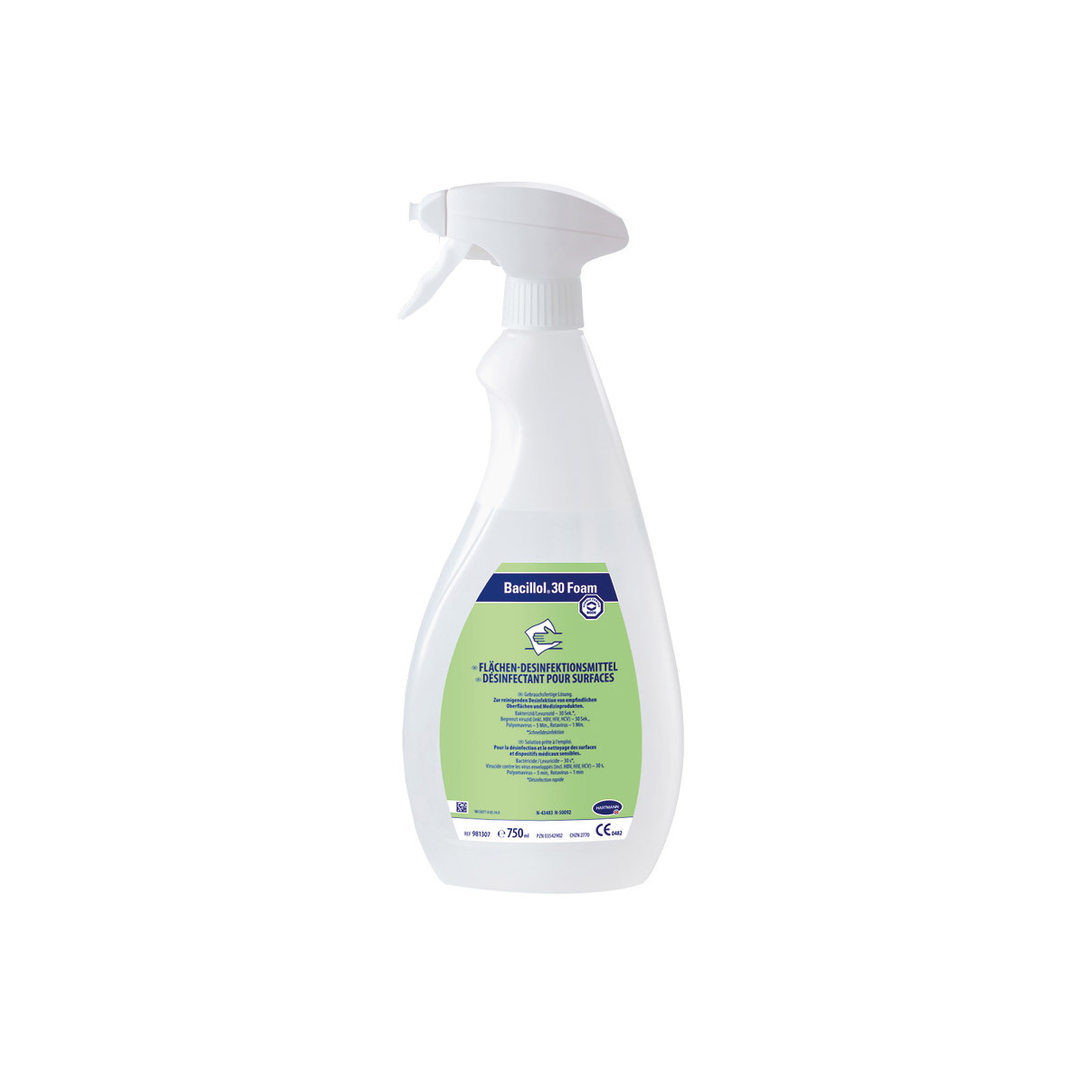 Bacillol® 30 Foam, 750 ml-Flasche inkl. Schaumsprühkopf
