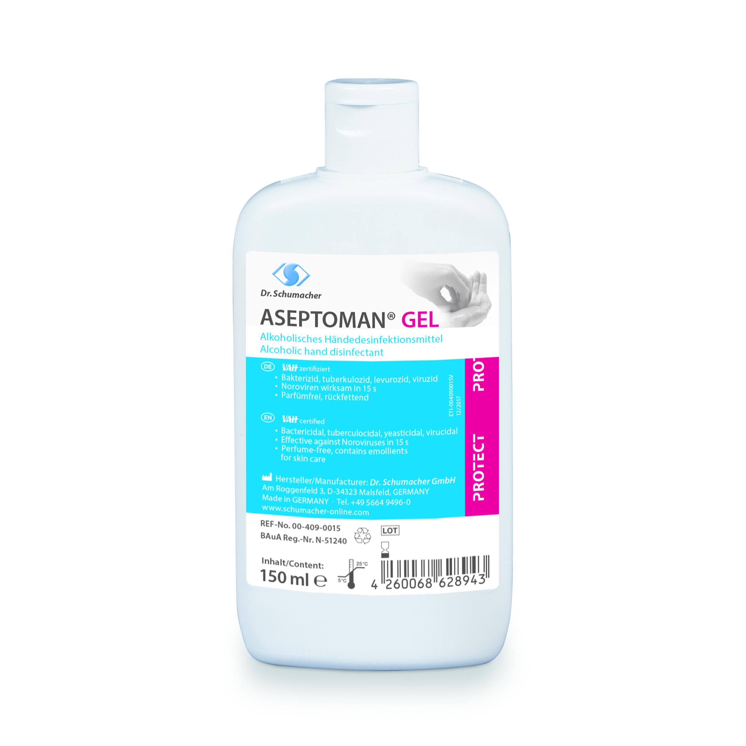 ASEPTOMAN GEL, Händedesinfektionsmittel, 150 ml Kittelflasche