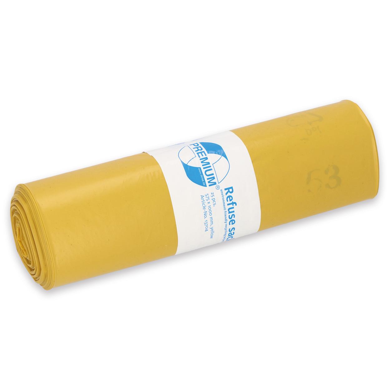 Abfallsack Premium 70 l T60 gelb - Karton mit 250 Stück