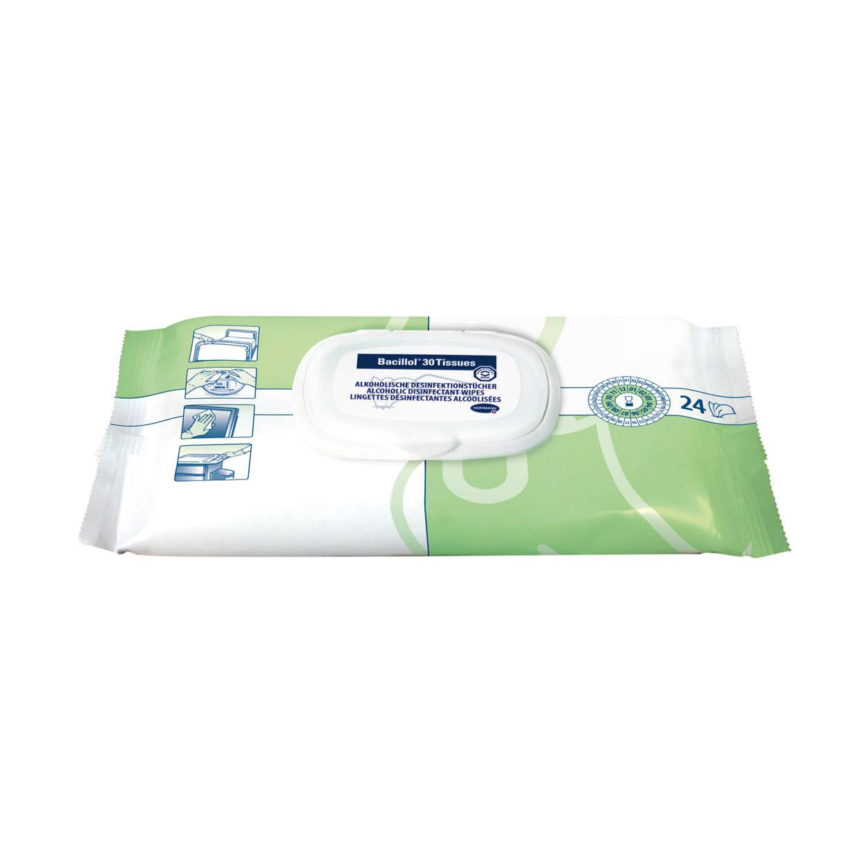 Bacillol® 30 Tissues, Flow-Pack mit 24 Tüchern