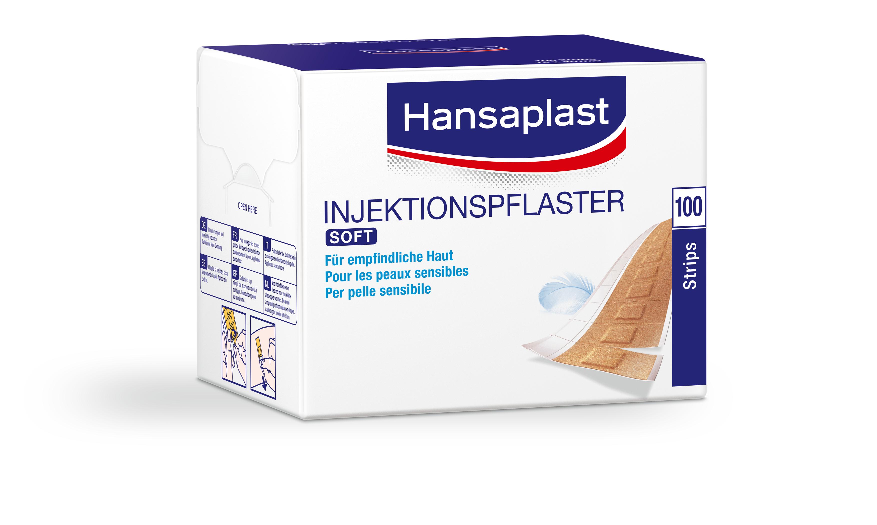 Hansaplast Soft Injektionspflaster 100er Packung, 4x1,9cm