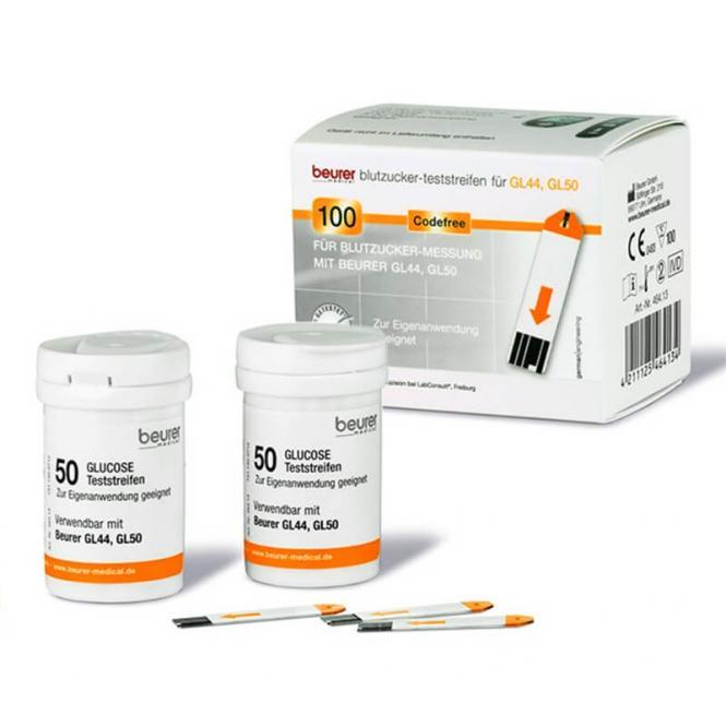 Beurer Teststreifen - GL 44/50/50 evo - 2 Dosen mit je 50 Stück