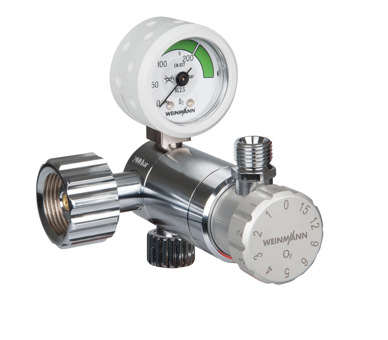 OXYWAY Fast II, G 3/4'  Druckminderer für Sauerstoff,  - Hochdruck-Handanschluss G 3/4'