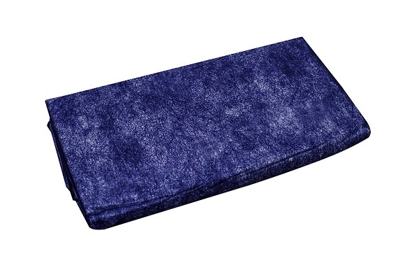 Einmaldecken 190 x 110 cm, 250 g in blau, Karton à 72 Stück