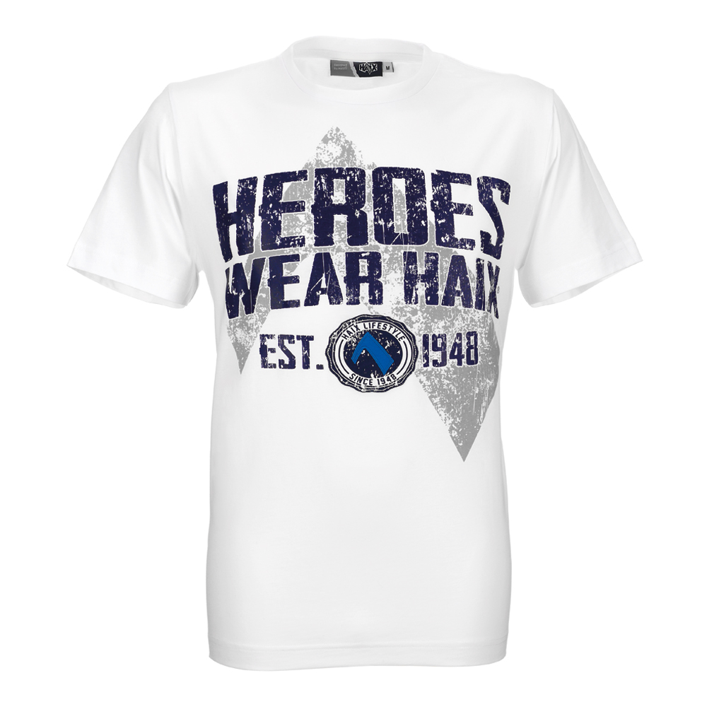 T-Shirt HEROES Unisex weiß