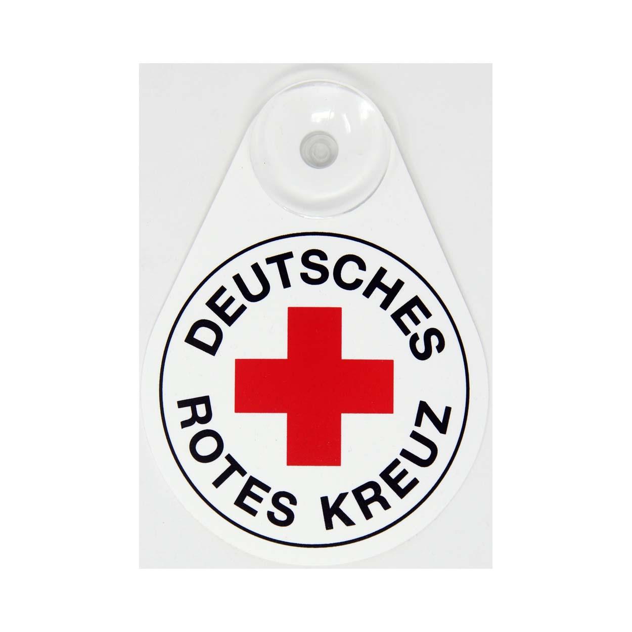 DRK Schild mit Saugnapf
