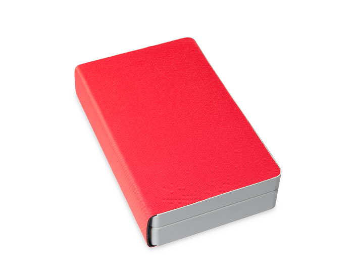 Ampullarium für 42 Ampullen, Außenmaterial: Polyester/Nylonmaterial, rot Außenmaße (BxHxT): 21 x 5 x 13 cm
