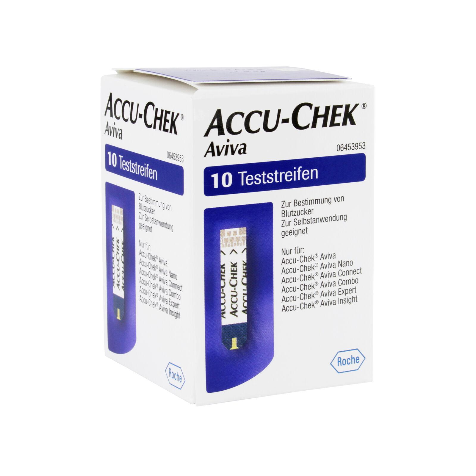 ACCU-CHEK Aviva Teststreifen, Packung mit 10 Stück