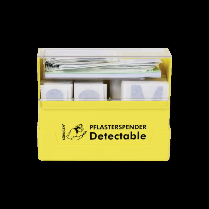 Pflasterspender gelb Pflaster detectable gefüllt