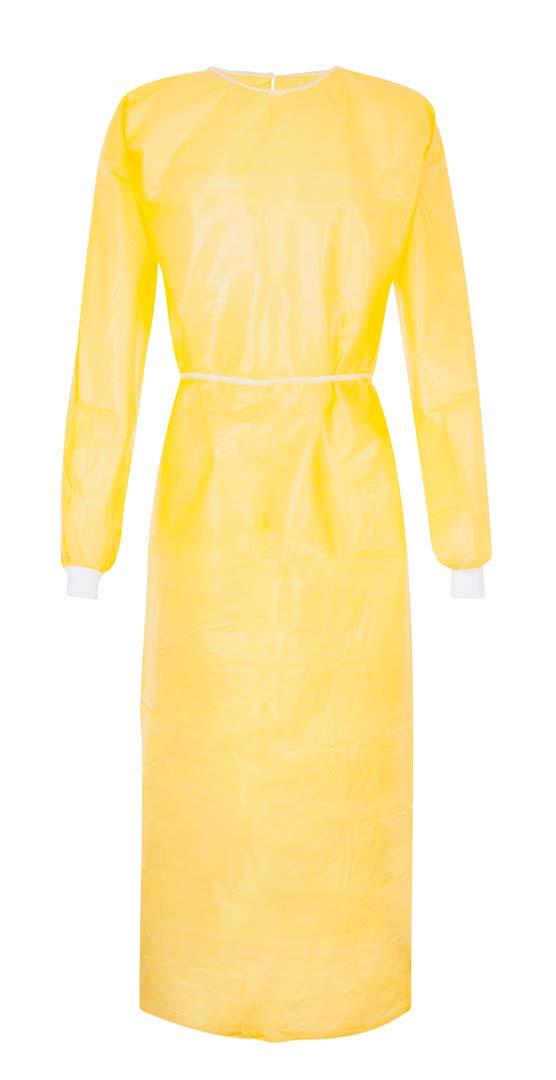 Schutzkittel, 160 cm lang, gelb, Einheitsgröße
