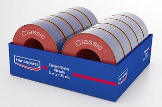 Hansaplast Fixierpflaster Classic für den Schub, 1 Rolle á 5m x 1,25cm