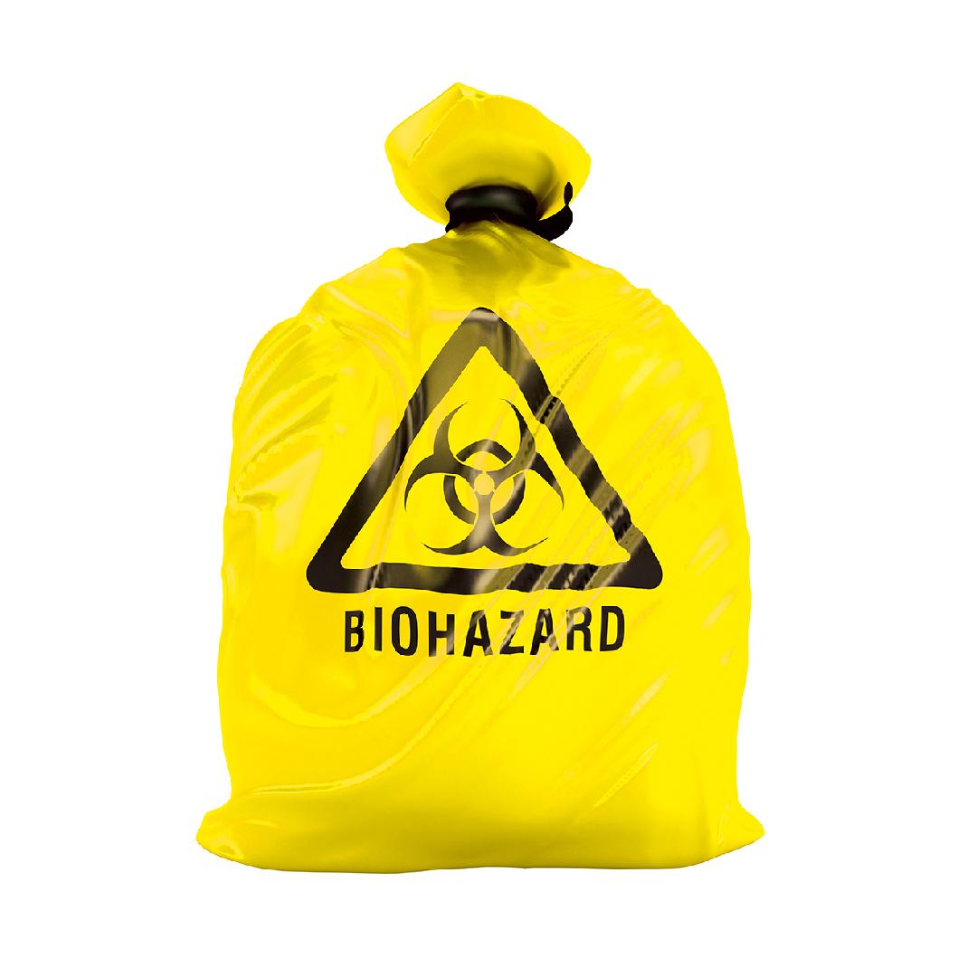 Biohazard-Entsorgungsbeutel 70 l, gelb, 20 Rollen â 20 Stück