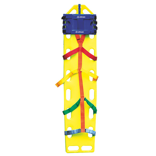Spineboard mit 10-Punkt Fixiersystem in gelb