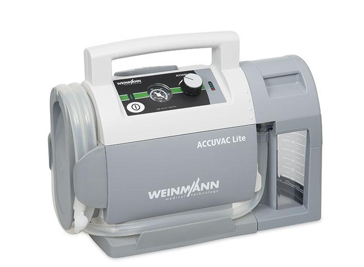 ACCUVAC Lite mit Mehrwegbehältersystem, elektrisches Absauggerät