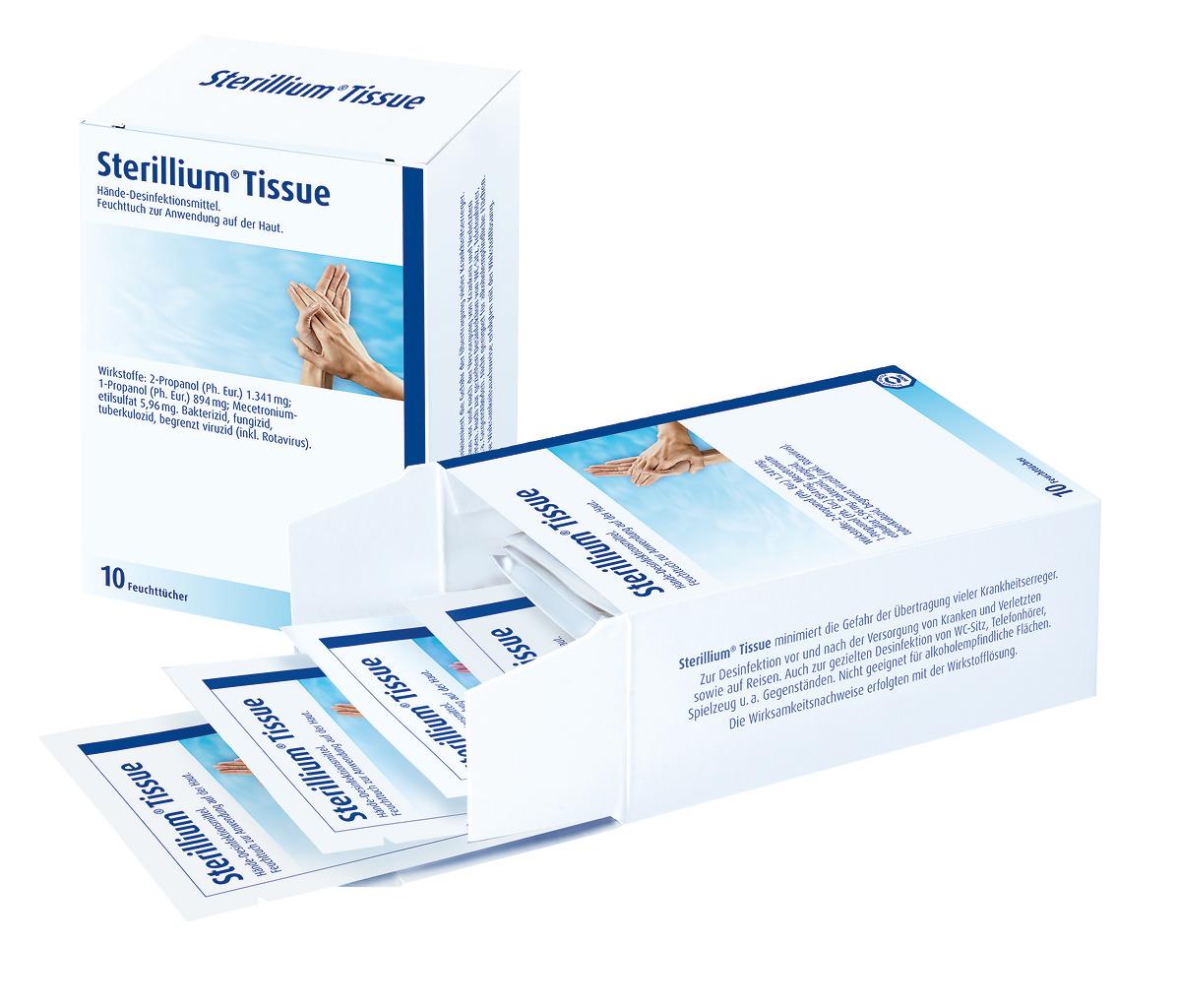 Sterillium® Tissue, 10 Tücher