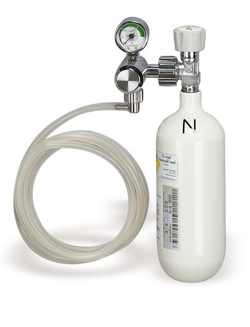 Sauerstoff-Gerät Lieferumfang: - Sauerstoff-Flasche 0,8 l x 200 bar, leer