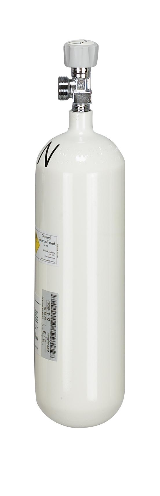 Sauerstoff-Flasche 2,0 Liter, gefüllt, G 3/4
