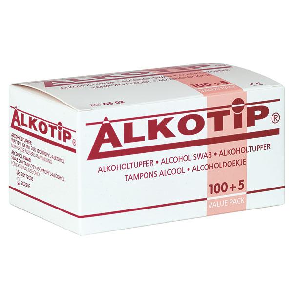 Alkotip Standard Alkoholtupfer - Packung à 100 + 5 Stück