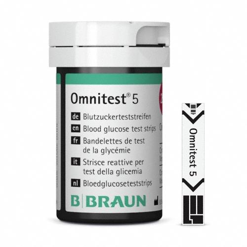 Blutzuckerteststreifen Omnitest® 5, Packung à 2 x 25 Stück