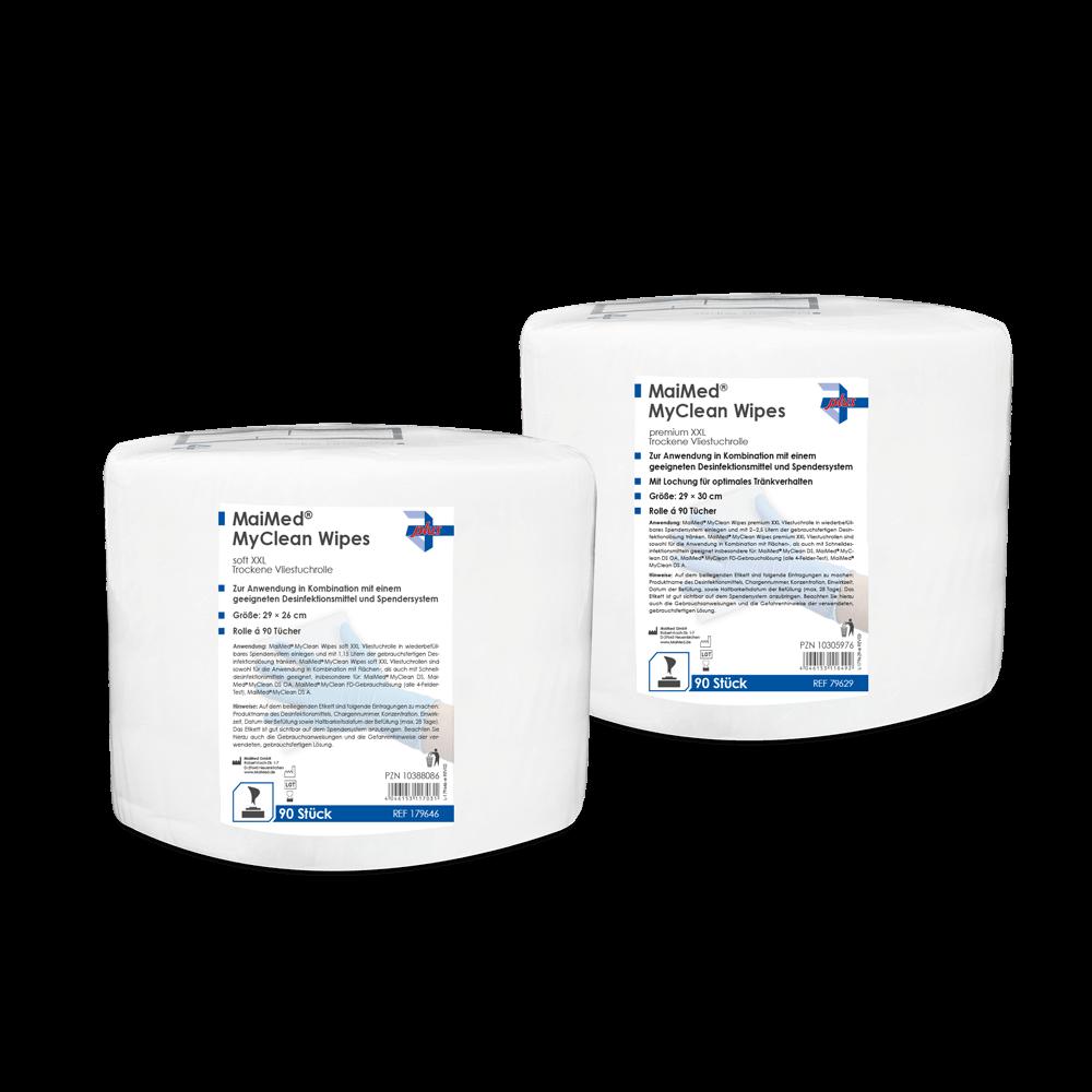 MaiMed® MyClean Wipes premium XXL-Tuch, 90 Blatt - 1 Rolle