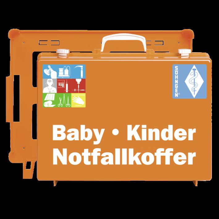 Notfallkoffer BABY-KINDER MT-CD orange