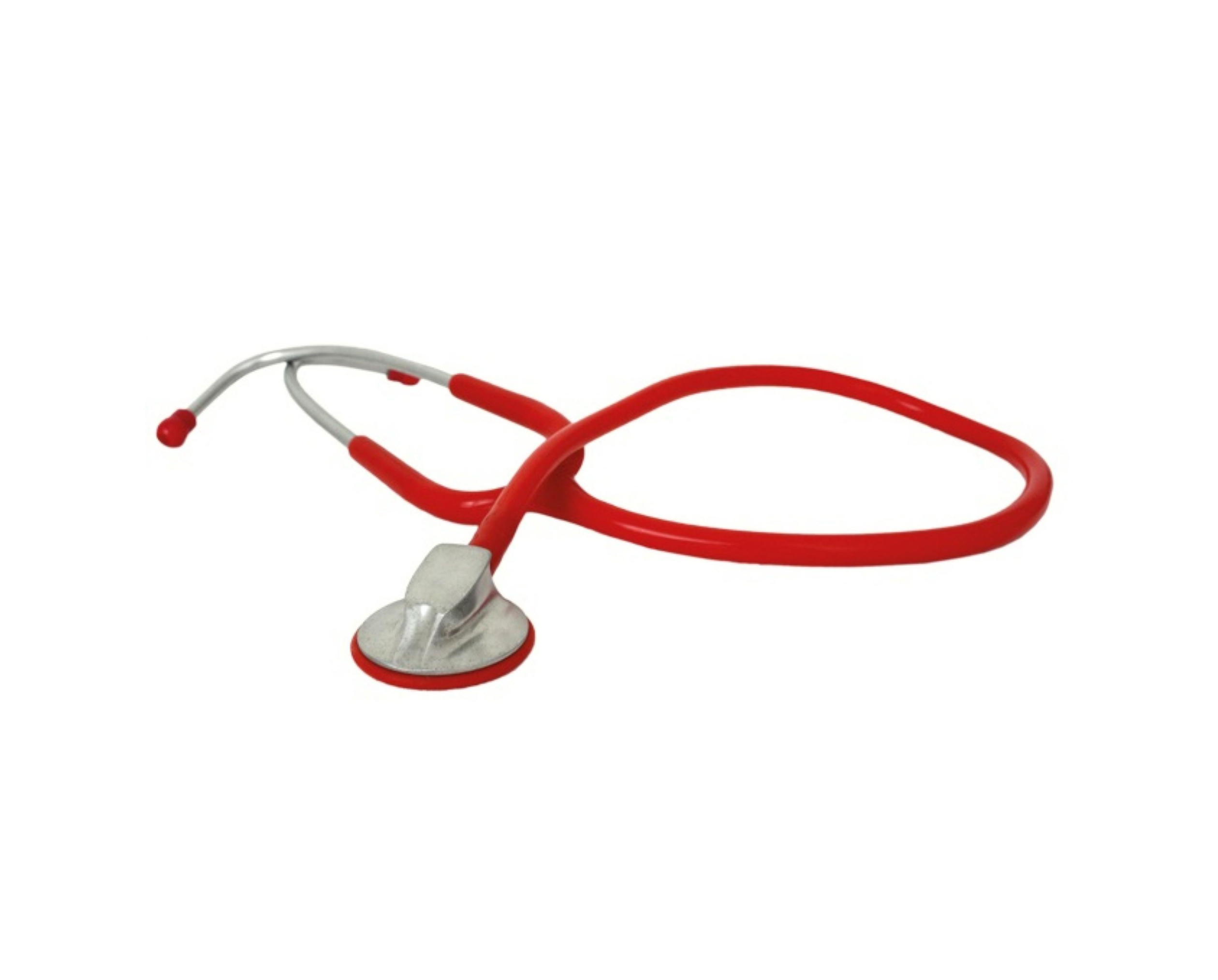 Flachkopf-Stethoskop in rot
